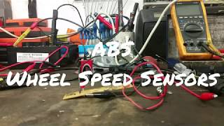 ABS sensor. Wheel speed sensor types. Bench testing. How to make an ABS Testing tool