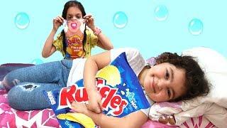Elif Öykü and Masal Johny Johny Yes Papa song Pretend Play fun kid video