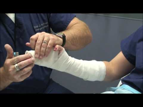 Ulnar Radial Gutter Forearm Splint Application
