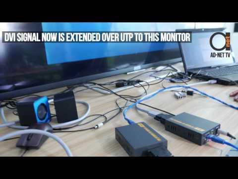 DVI extender over UTP CAT6 cables