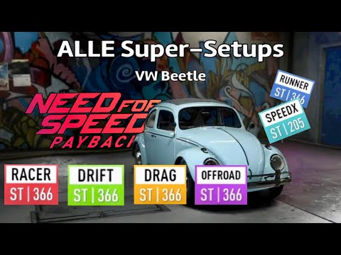 Need For Speed Payback - ALLE Super-Setups VW Beetle