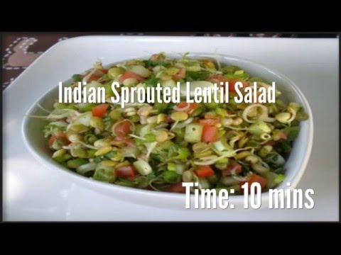 Indian Sprouted Lentil Salad Recipe