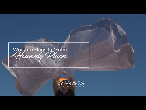 *NEW* Heavenly Places Worship Flags from Catch the Fire Worship Flags