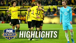Borussia Dortmund Vs. Vfl Wolfsburg | 2019 Bundesliga Highlights