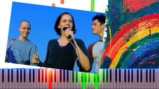 Modjo  Lady Hear Me Tonight Piano Cover Midi tutorial Sheet app  Karaoke
