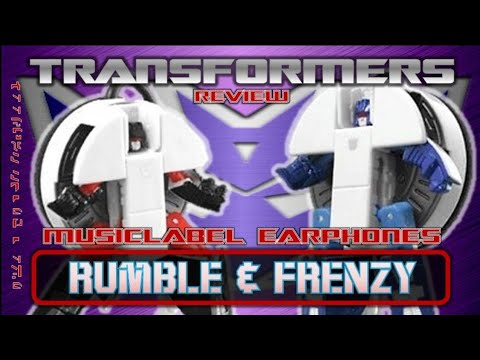 Transformers Music Label Earphones Rumble & Frenzy // Review