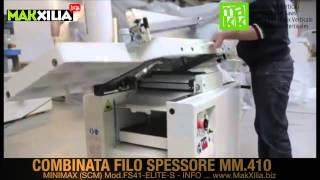 Combinata Filo Spessore MINIMAX FS41-ELITE-S. Surface Thicknesser Combined Machine.