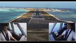 Airbus A330 - Approach and Landing in Malé, Maldives (ENG sub…