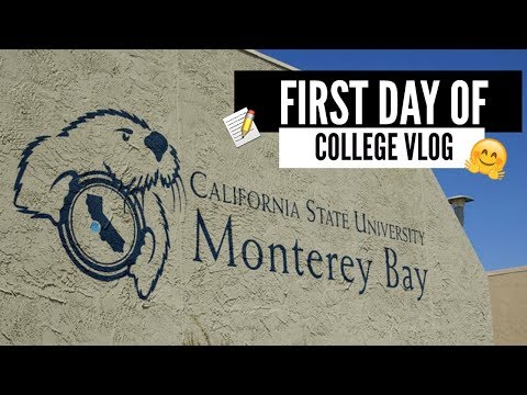 FIRST DAY OF COLLEGE VLOG I CSUMB