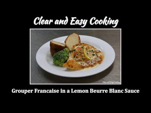 Grouper Francaise In A Lemon Beurre Blanc Sauce.