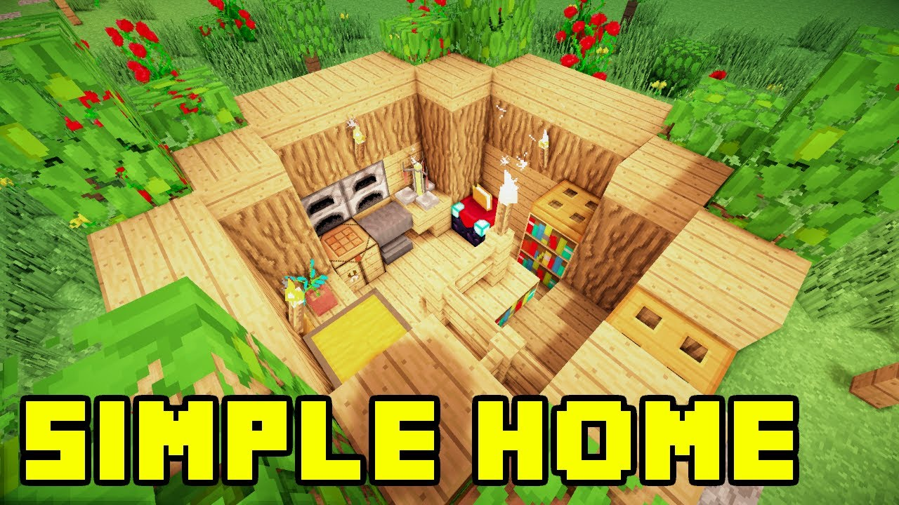 Minecraft easy simple survival house base home build for Easy build homes