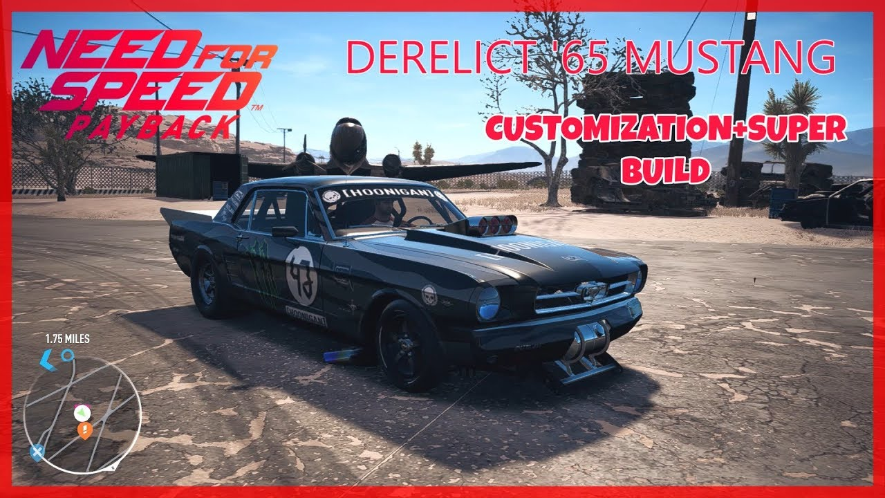 Need For Speed Payback Derelict 65 Mustang Drag Build From Scrap