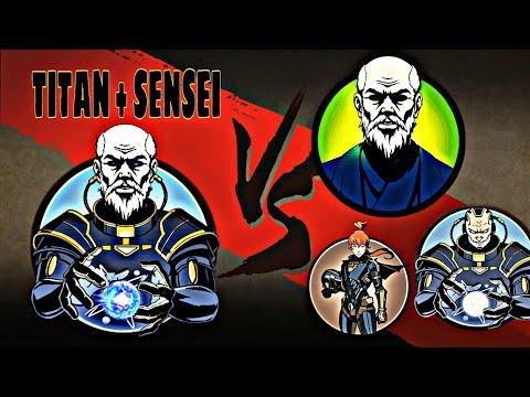 Shadow Fight 2 Titan Sensei Vs Top 5 Characters Smotret Pryamo