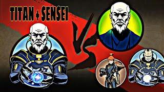 Shadow fight 2 TITAN + SENSEI vs TOP 5 Characters