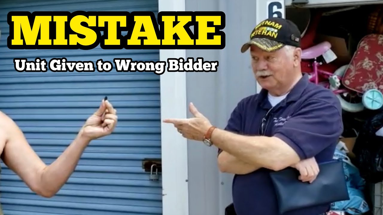 MISTAKE Wrong Abandoned Storage Unit Buyer Is Given A Locker At The Auction / Real Life Storage Wars
