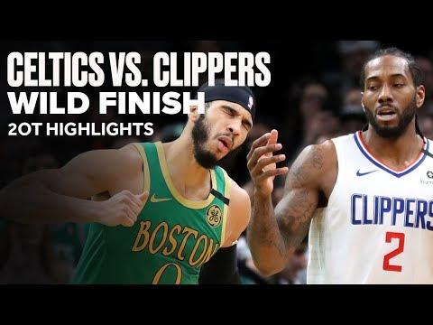 Celtics vs Clippers Wild Game | 2OT Highlights