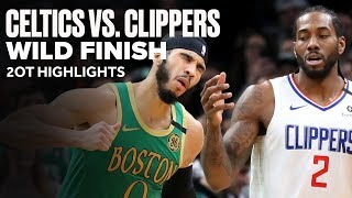 Celtics vs Clippers Wild Game | 2OT Highlights