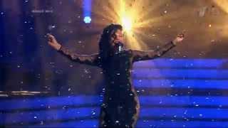 """Севара на шоу """"Точь-в-точь"""" в образе Rihanna (11.05.2014)"""