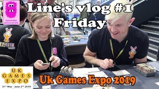 Uk Games Expo 2019, Line's Vlog #1 . Day 1   Friday #boardgames #ukge2019