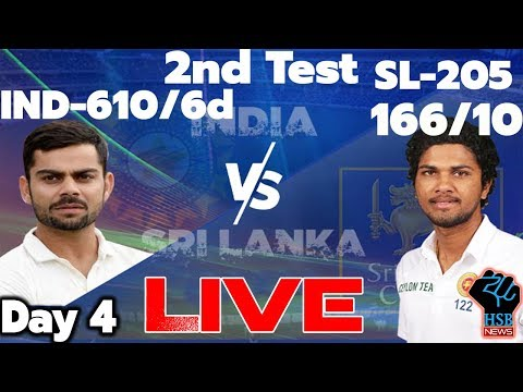 LIVE MATCH: India vs Sri Lanka Live Match,2nd Test, Live Coverage & Online Streaming: SL-30/1
