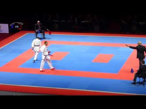 ECh 2016, kumite male -67 kg bronze medal match, Tadissi HUN vs Joksic SRB