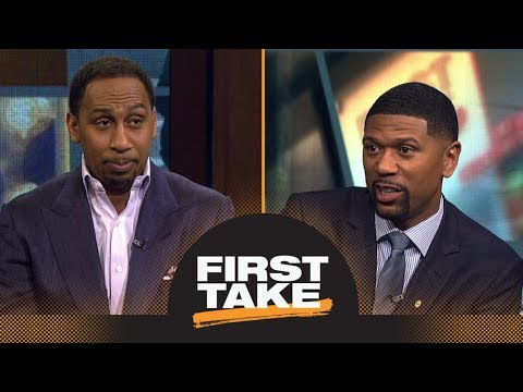 Stephen A. Smith asks Jalen Rose if LeBron James actually wants to win the East | First Take | ESPN