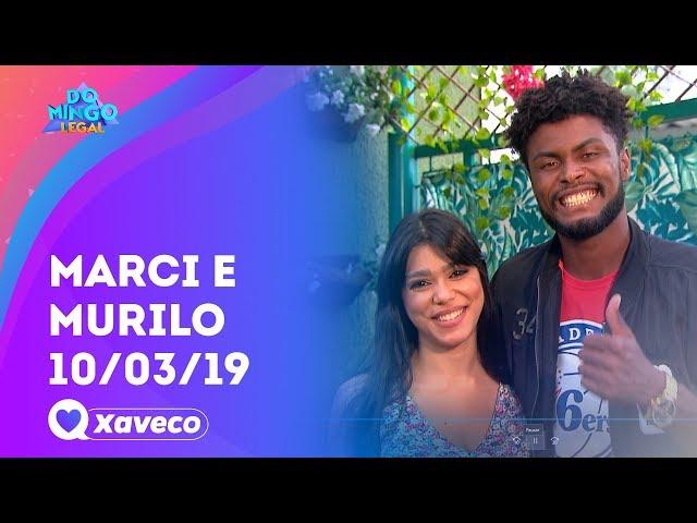 Marci e Murilo: será que rolou beijo ou fora? - Xaveco | Domingo Legal (10/03/19)