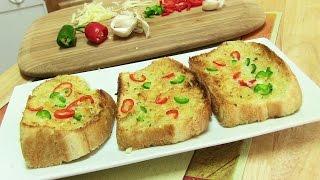 Cheesy Chili Garlic Bread Video Recipe