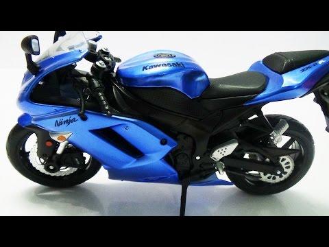 Xe đồ chơi mô hình moto lắp ráp Kawasaki Ninja ZX-6R Maisto Assembly Line