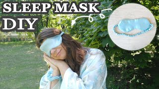 DIY Sleep Mask | How to Make a Sleep Mask - Tutorial and FREE Pattern