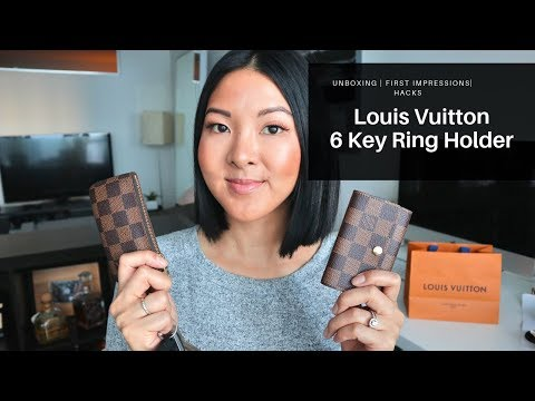 LOUIS VUITON 6 KEY HOLDER | FIRST IMPRESSIONS & HACKS (large keys/remotes)