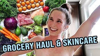 HEALTHIEST GROCERY HAUL - My AIP Diet + My Skincare Routine for Topical Steroid Withdrawal