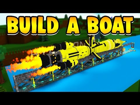 Build a Boat ROCKET SHIP!!! ( LAUNCH TO THE BEACH! )