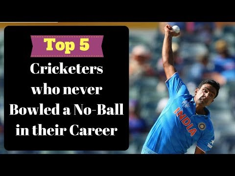 Top 5 - Cricketers who never bowled a No ball in their career