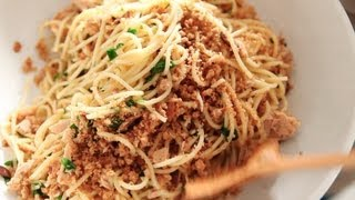Spaghetti With Tuna, Lemon, And Breadcrumbs | Everyday Food With Sarah Carey