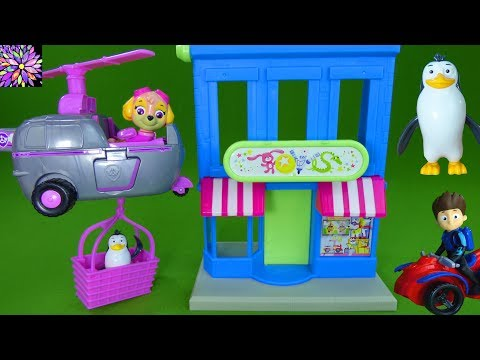 Thumbnail: Paw Patrol Toys Skye's Adventure Bay Townset Play Set Skye Rocky Penguins Rescue Toys R Us Toys