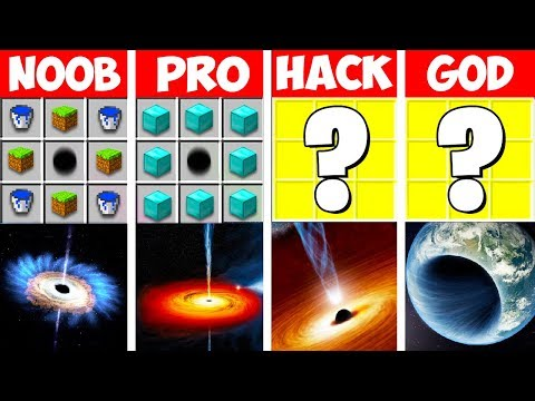 Minecraft Battle: BLACK HOLE NATURAL DISASTER CHALLENGE In Minecraft! NOOB Vs PRO Vs HACKER Vs GOD
