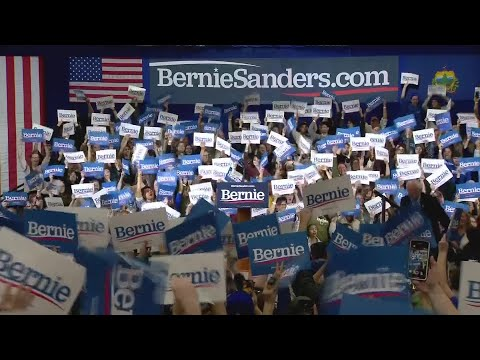 Sen. Bernie Sanders addresses supporters in Vermont