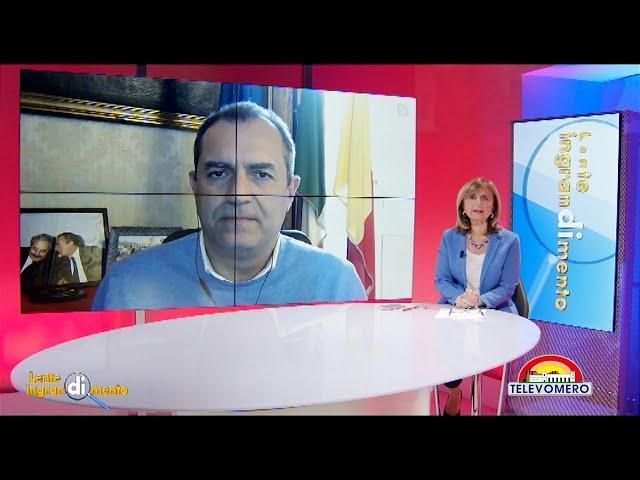 LENTE DI INGRANDIMENTO CON IL SINDACO DI NAPOLI LUIGI DE MAGISTRIS 3 MARZO 2021