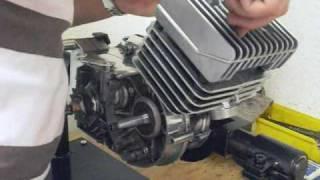 Montage des Zylinder am Simson Motor S51