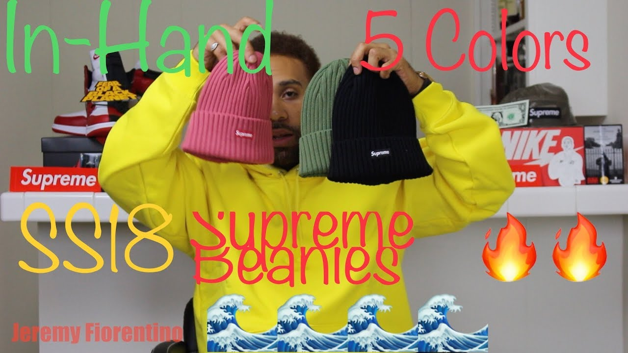e31708a2785 Unboxing Supreme SS18 Overdyed Ribbed beanies Review Legit Check ...