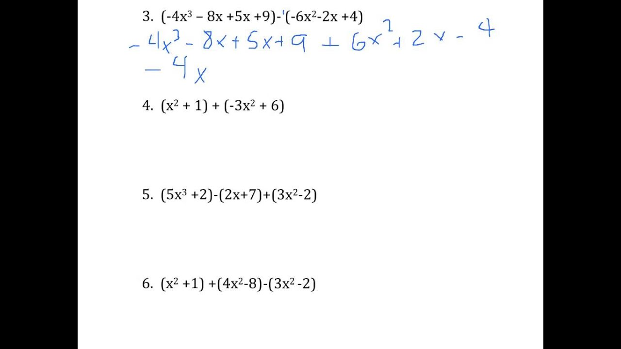 small resolution of Ninth grade Lesson Adding and Subtracting Polynomials
