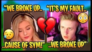 BROOKE AND SYMFUHNY BREAK UP *LEAKED DMS* (Fortnite Funny Moments)