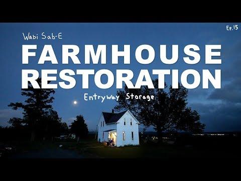 Farmhouse Restoration   Entryway Shoe Storage & Closet   Ep.15  