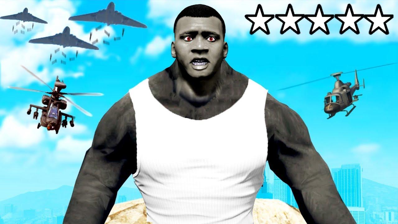 "Franklin Becomes ""KING KONG"" in GTA5 | GTA5 GAMEPLAY"