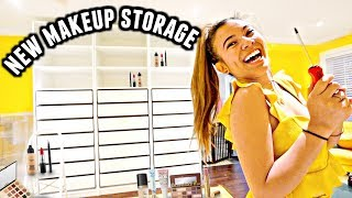 BUILD NEW MAKEUP STORAGE WITH ME! 🏠🔨 Makeup Organization and Storage for my Toronto House 2018