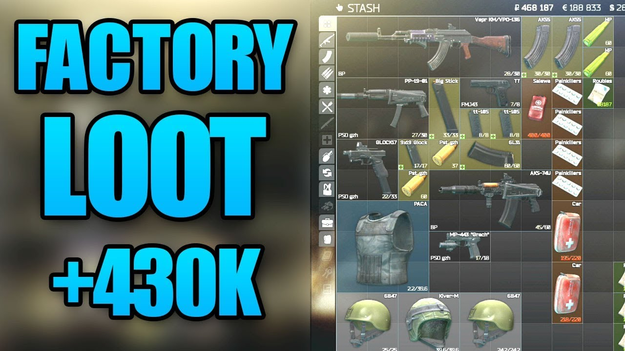 EFT FACTORY LOOTING + 430K RUBLES IN 1 HOUR - Escape From Tarkov