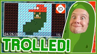 Mario Turns Himself Into A Pickle... // TROLLED // Mario Maker 2