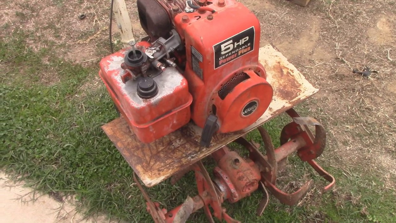 Montgomery Ward Rototiller Part 2  It Lives and Replace Belts  YouTube