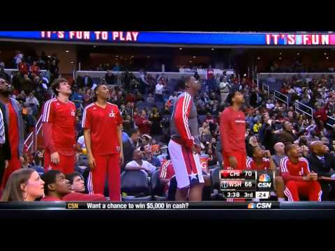 John Wall circus shot vs Bulls